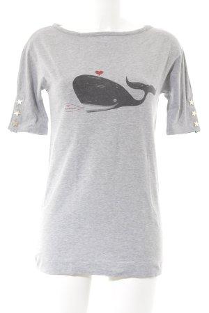 Love Moschino Longshirt hellgrau-grau Animalmuster Animal-Look