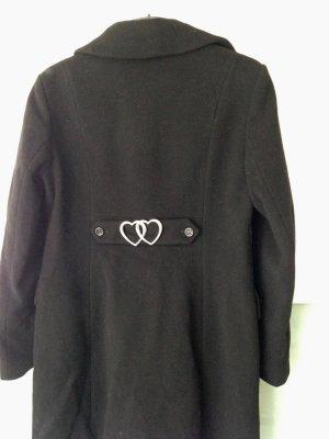 Love Moschino Wollen jas zwart Scheerwol