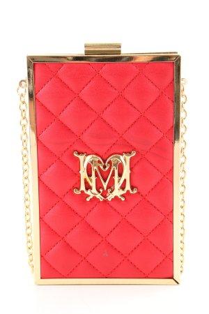 Love Moschino Minitasche rot-goldfarben Steppmuster Elegant