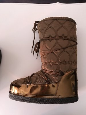 Love Moschino Snow Boots bronze-colored