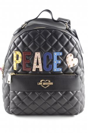 "Love Moschino Laptop rugzak ""Quilted Peace Backpack Black"""