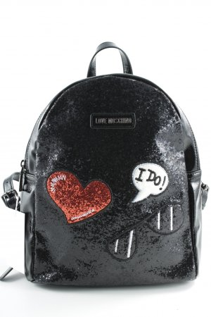 Love Moschino Notebookrucksack schwarz Glitzer-Optik