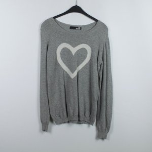 Love Moschino Pull tricoté gris anthracite-gris clair