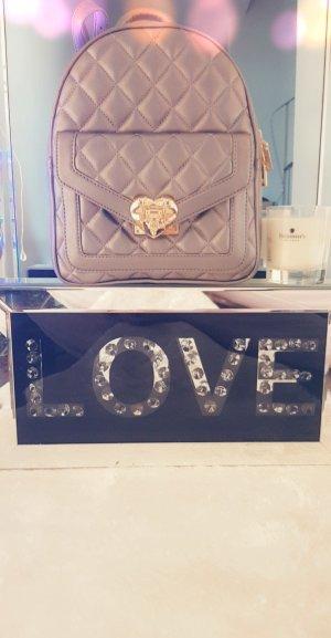 Love Moschino Sac à dos à roulettes argenté polyuréthane