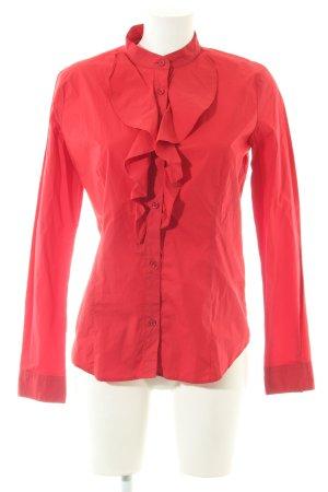 Love Moschino Rüschen-Bluse rot Business-Look