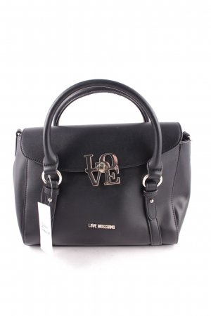 "Love Moschino Satchel ""Love Satchel Straps PU Nero"" zwart"