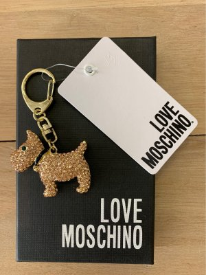 Love Moschino Key Chain gold-colored