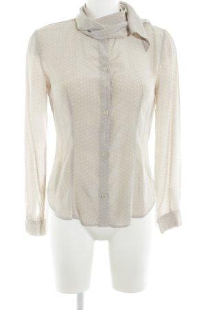 Love Moschino Schluppen-Bluse creme-weiß Punktemuster Elegant