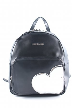 "Love Moschino Schulrucksack ""Heart Backpack Nero/Argento"""
