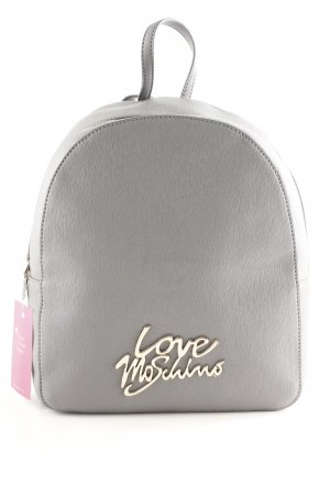 "Love Moschino Schulrucksack ""Smooth Saffiano Pu Logo Backpack Grigio"""