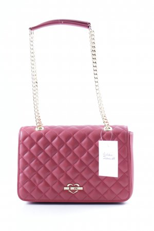 """Love Moschino Schoudertas """"Quilted Shoulder Bag Rosso"""" rood"""