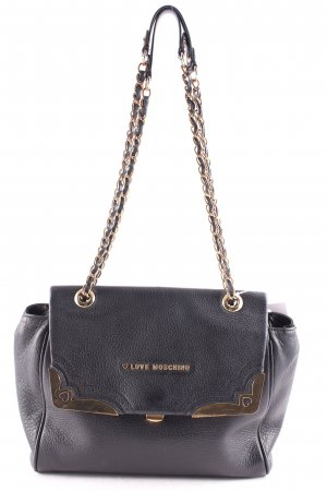 Love Moschino Shoulder Bag black-gold-colored classic style