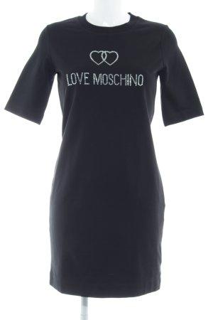 Love Moschino Robe t-shirt noir style décontracté