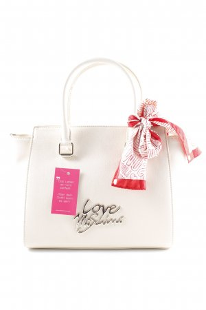"Love Moschino Shopper ""Logo Tote Scarf Saffiano PU Avorio"" wollweiß"