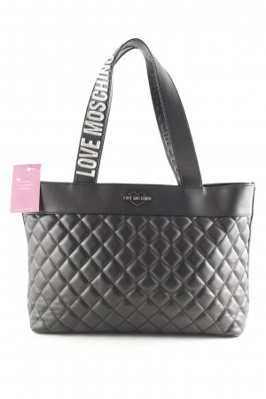 "Love Moschino Shopper ""Quilted Shopping Bag Metallic Nero"" schwarz"