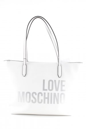 "Love Moschino Shopper ""Shopping Bag Tassel Bianco"""