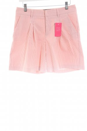 Love Moschino Shorts pink-weiß Streifenmuster Casual-Look