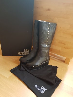 Love Moschino Platform Boots black imitation leather