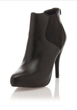 Love Moschino Stiefeletten Stilettos schwarz Gr. 37 Leder NP 249,--
