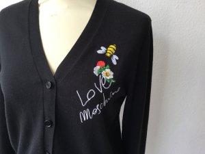 LOVE Moschino Strickjacke Cardigan schwarz Gr. 40 NEU