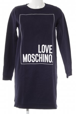 Love Moschino Vestido de tela de sudadera azul oscuro look casual