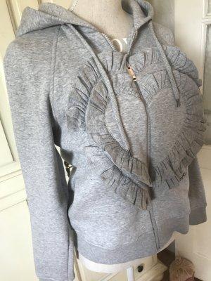 Love Moschino Sweatshirt Jacke mit einem Herz Rüschen neu 259€