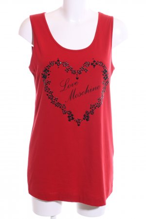 Love Moschino Tanktop rot-schwarz Motivdruck Casual-Look