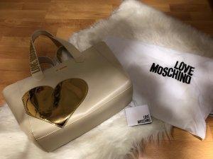 Love Moschino Bolso color oro-crema