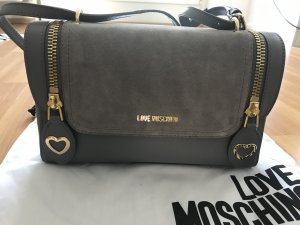 Love Moschino Shoulder Bag silver-colored-grey leather