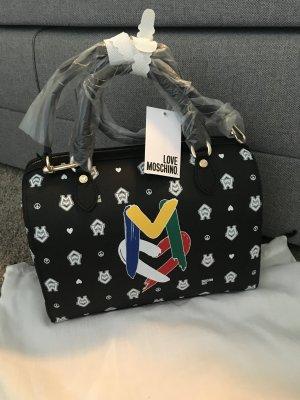 Love moschino Tasche clutch Handtasche neu schwarz weiß Designer Blogger