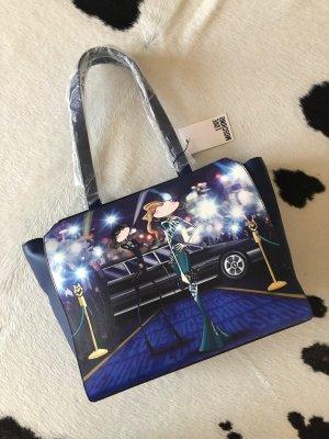 Love moschino Tasche Handtasche neu shopper blau Leder clutch