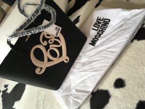Love moschino Tasche Handtasche neu shopper schwarz weiß Blogger Fashion