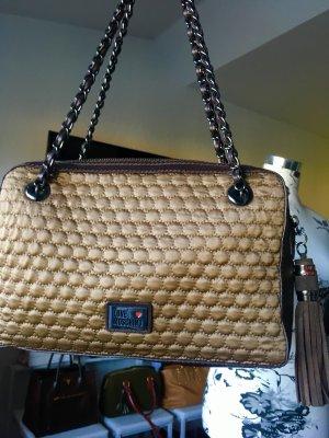 Love Moschino Tasche Metallkette gesteppt Bommel