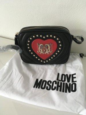 Love moschino Tasche neu Shopper schwarz Silber clutch Handtasche Blogger