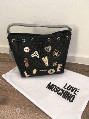 Love moschino tasche schwarz neu Blogger Fashion shopper clutch Beutel