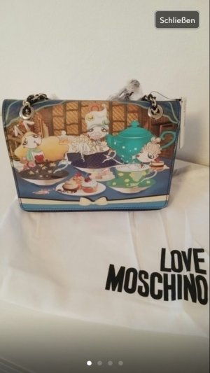 Love moschino Tasche shopper Handtasche blau Gold neu clutch Designer
