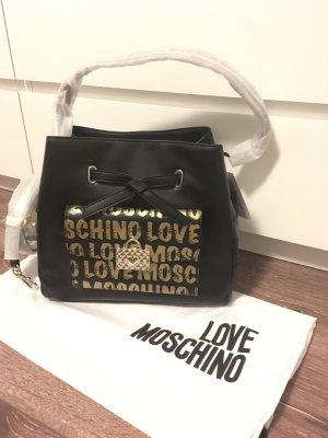 Love moschino Tasche shopper Handtasche neu schwarz Gold Beutel Rucksack