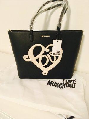 Love moschino Tasche shopper schwarz weiß Handtasche Blogger neu Fashion