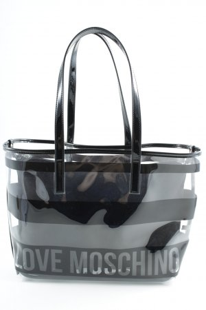 Love Moschino Tote black striped pattern casual look
