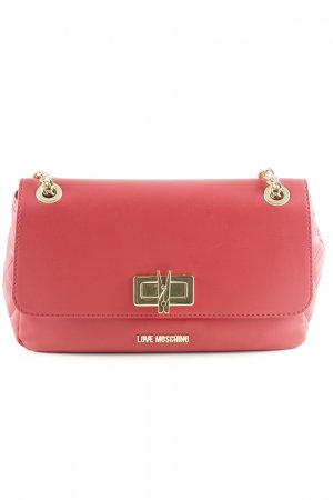 "Love Moschino Sac bandoulière ""Borsa Quilted Nappa Pu Chain Crossbody Bag Rosso"""