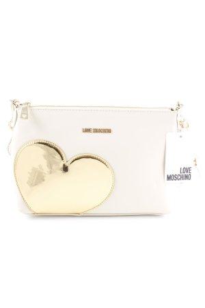 Love Moschino Umhängetasche creme-goldfarben Romantik-Look