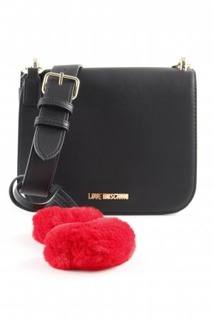 "Love Moschino Umhängetasche ""Hearts Shoulder Bag Small Black"" schwarz"