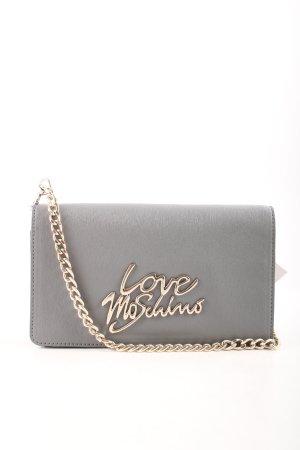"""Love Moschino Umhängetasche """"Saffiano Logo Scarf Crossbody Bag Grigio"""""""