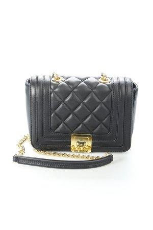 Love Moschino Umhängetasche schwarz-goldfarben Steppmuster extravaganter Stil
