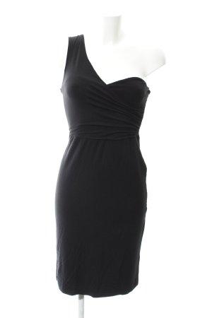 Love Vestido de un hombro negro look casual