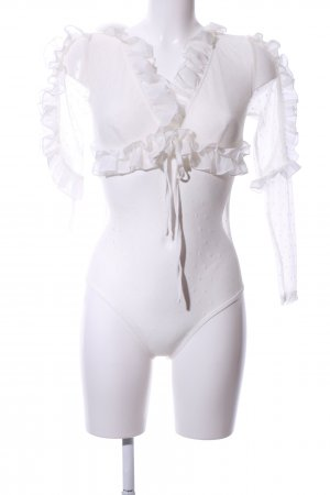 Love & Other Things Bodysuit Blouse natural white extravagant style