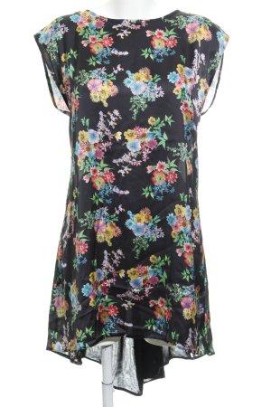 Love Oversized Bluse schwarz Blumenmuster Street-Fashion-Look