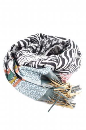 love scarfs Bufanda de flecos estampado de animales look casual