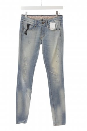 Loveday Röhrenjeans hellblau Destroy-Optik