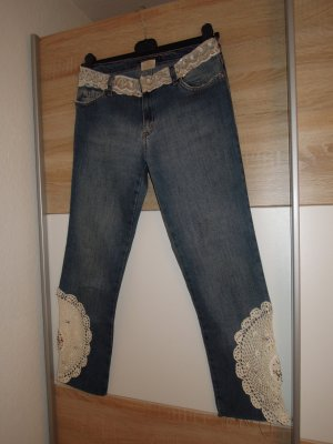 Jeans a 7/8 multicolore Cotone